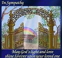 Rainbow Bridge Pet Card